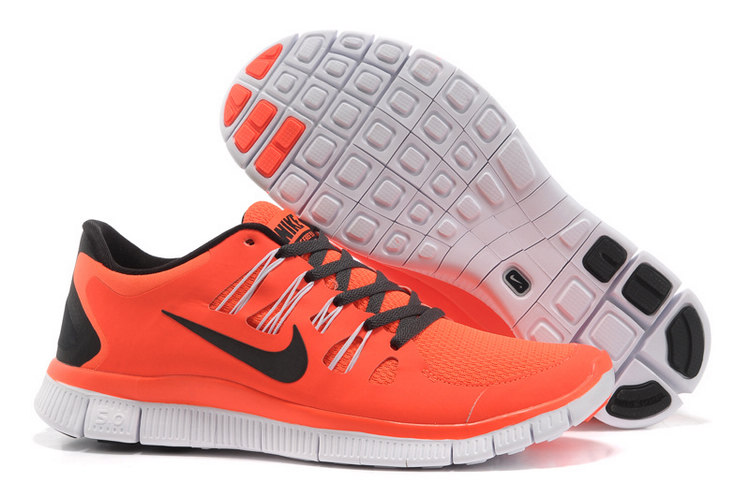 Mens Nike Free Run Black Orange 5.0+ 5 + H290