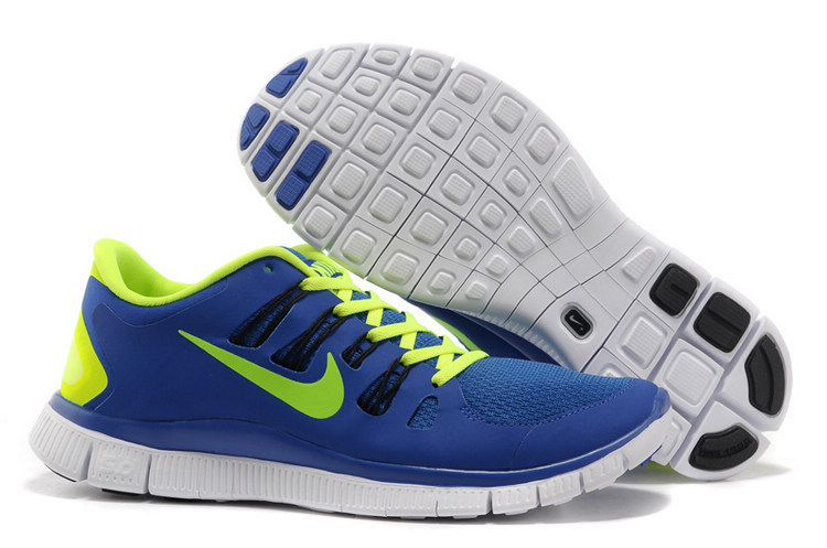 2014 Women Nike Free 5.0+ Blue Fluorescence Green 5 + F30