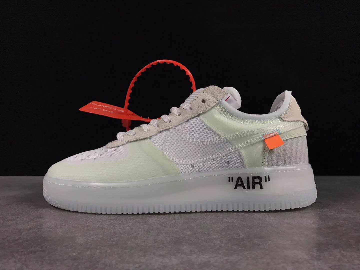 OFF-White x Nike Air Force 1 Low White Beign Shoes