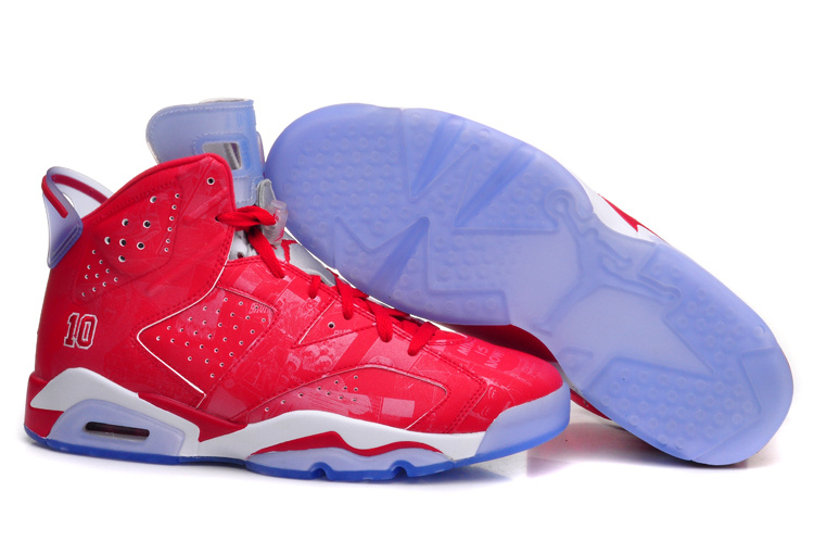 Sale New Air Jordan 6 Retro Slam Dunk Varsity Red White