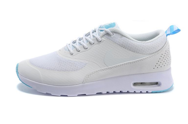 Nike Air Max Shoes Women British Thea White blue sarc