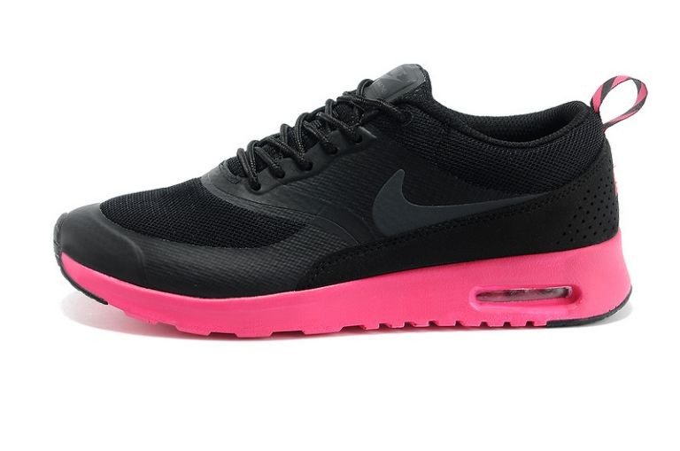 Nike Air Max Shoes Thea British Women Black Rose