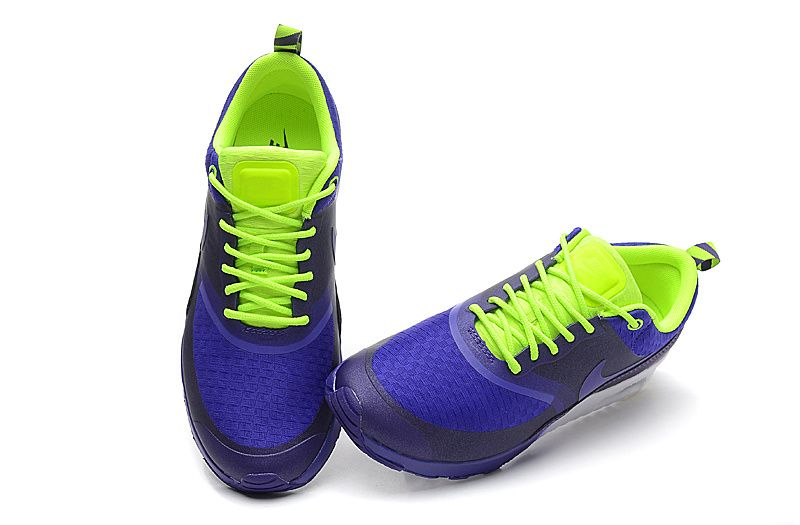 Nike Air Max Shoes Women Thea Purple/Royal- Volt