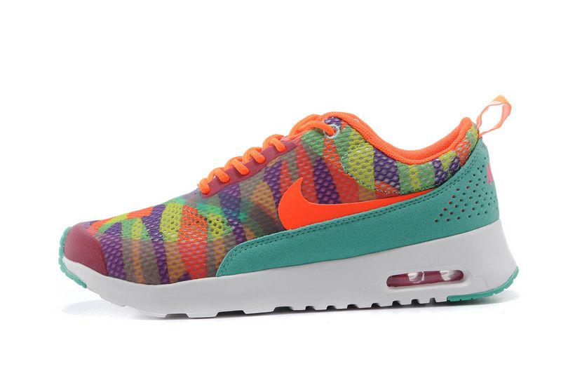 Nike Air Max trainers Thea Print Women Orange/Turquoise