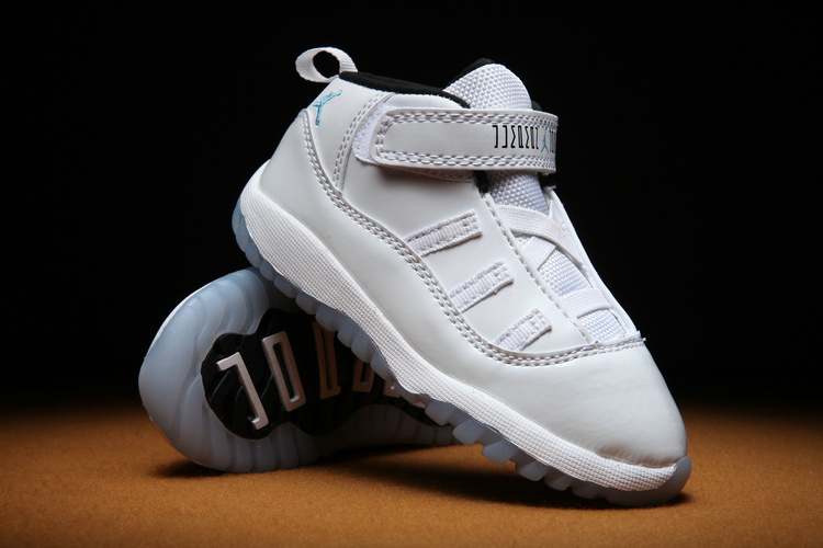 Toldders Jordan 11 Retro All White Shoes