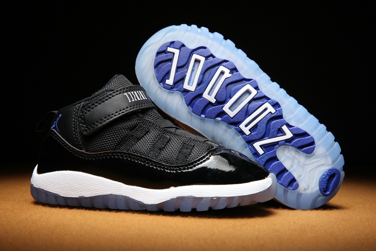 Toldders Jordan 11 Retro Gamma Black White Blue Shoes