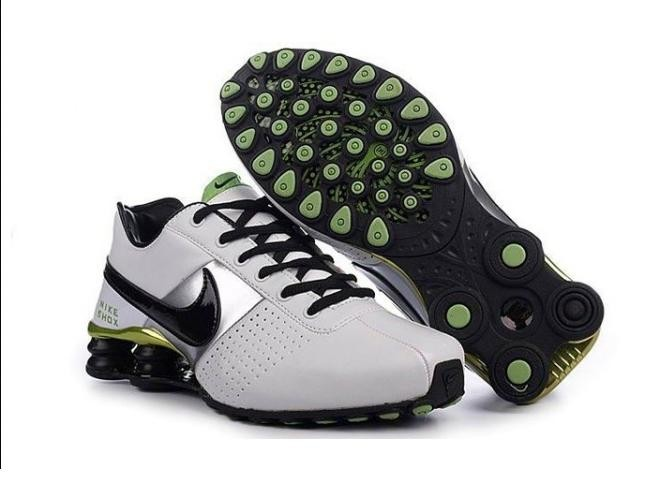 White Black Green Shoes Mens Nike Shox OZ