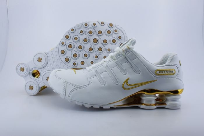 White Gold Electroplate Button Nike Shox NZ - Mens Running Shoes