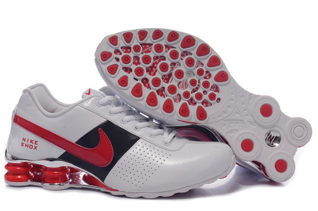 White Red Black Shoes Mens Nike Shox OZ