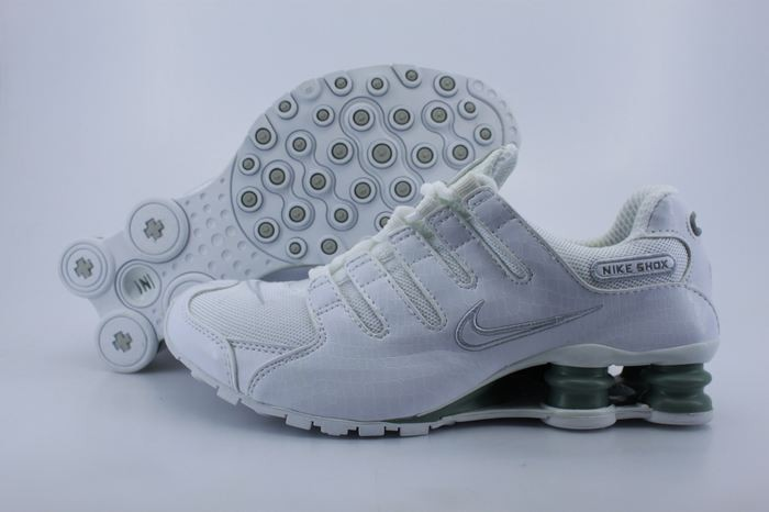 White Silver Electroplate Button Nike Shox NZ - Mens Running Shoes