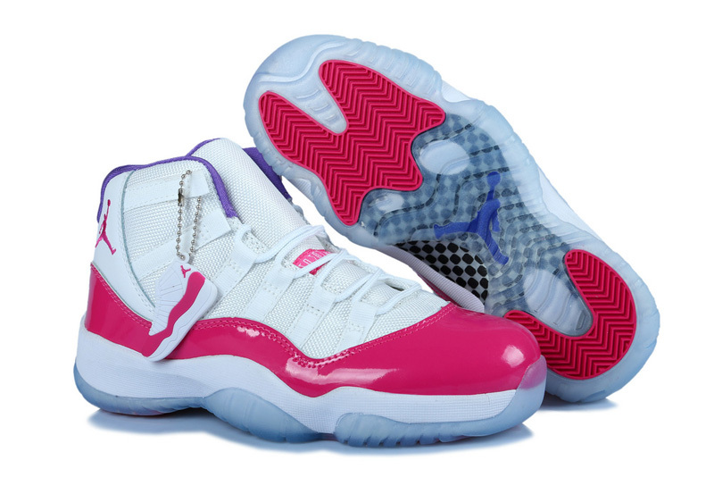 Women Air Jordan 11 White Pink