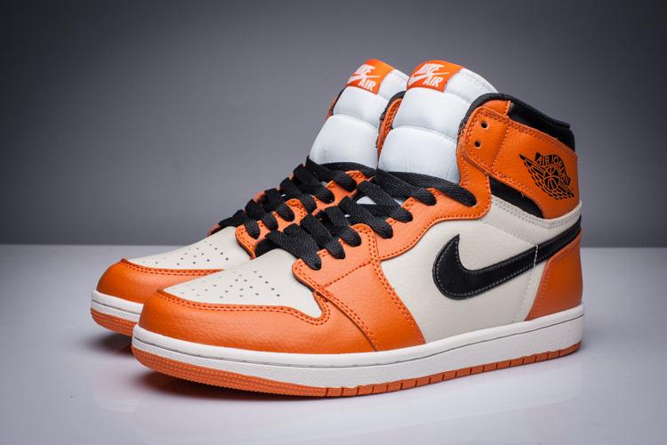 jordan retro orange and white