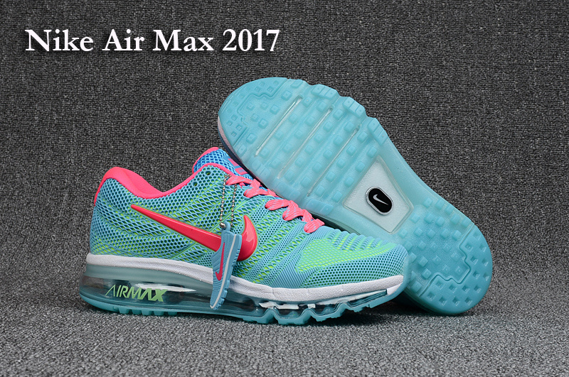 Women Nike Air Max 2017 Jade Blue Pink White Shoes