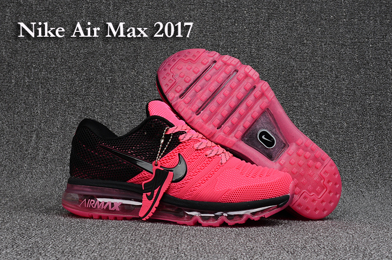 Women Nike Air Max 2017 Pink Black Shoes