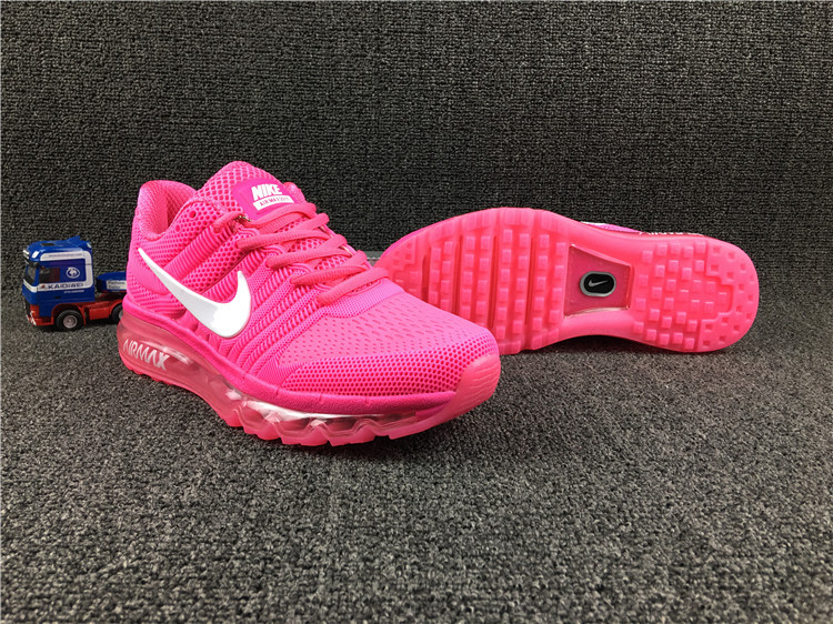 Women Nike Air Max 2017 Pink White Shoes