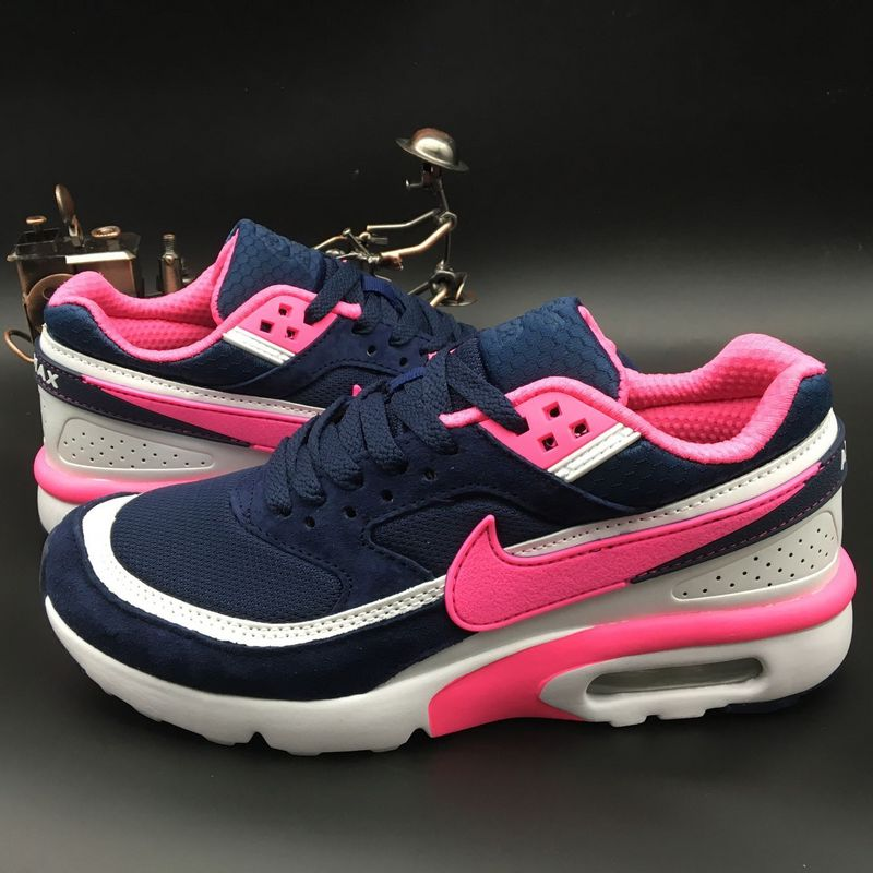 Women Nike Air Max BW Premium Blue Pink White Shoes