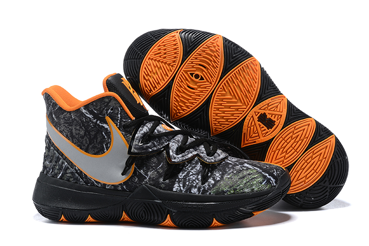 Women Nike Kyrie 5 Black Orange Shoes