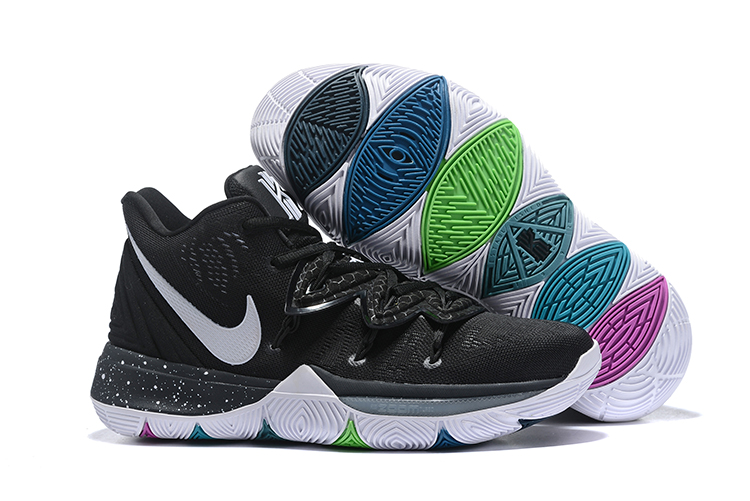 Women Nike Kyrie 5 Black White Shoes