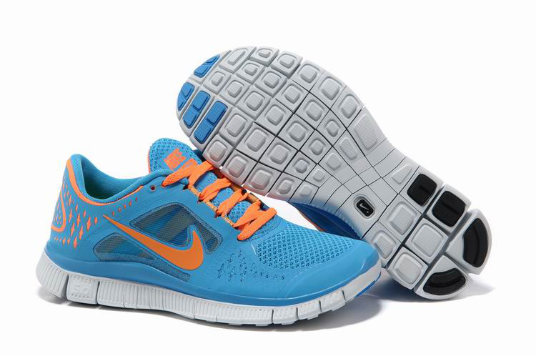 2014 Nike Free Run 3 Women Blue Orange R3F354