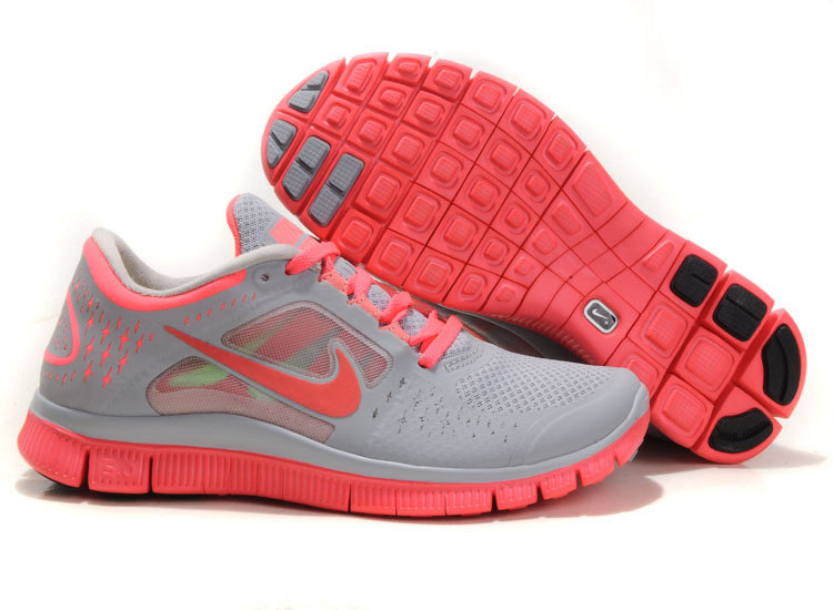 2014 Nike Free Run 3 Women Gray Pink R3F340
