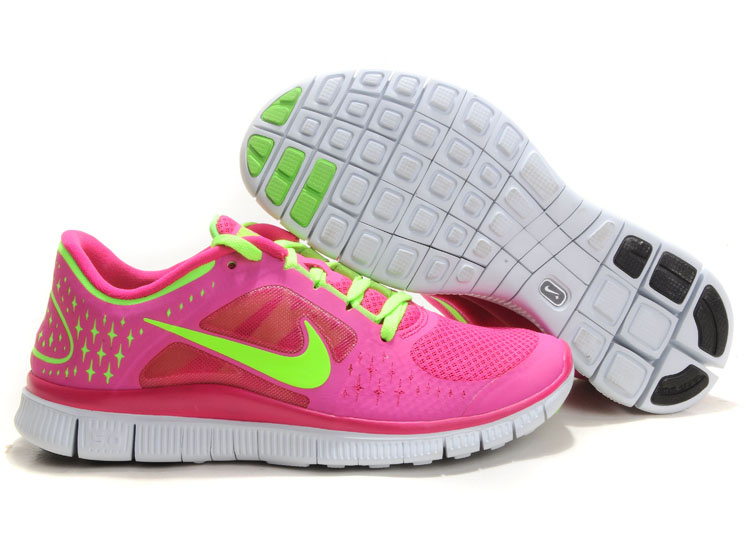 2014 Nike Free Run 3 Women Pink Green R3F347