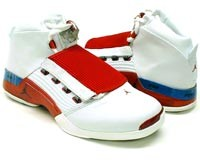 air jordan 17 white red shoes