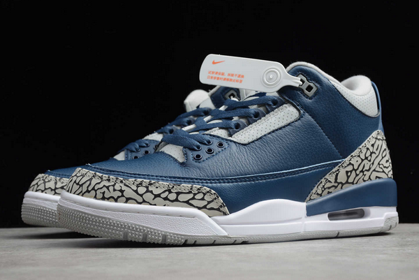 Cheap jordan 3 midnight navy cement grey white shoes