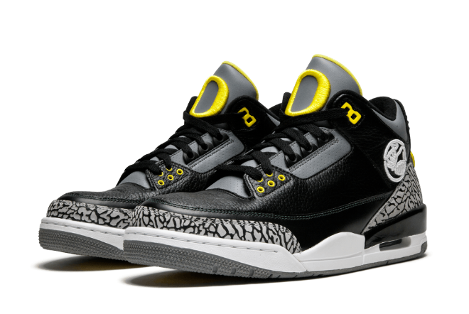 Cheap jordan 3 oregon ducks pit crew shoes