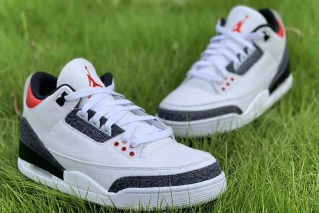 Cheap jordan 3 se denim fire red white black fire red shoes