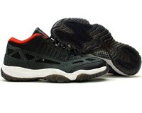 air jordan retro xi 11 low black red