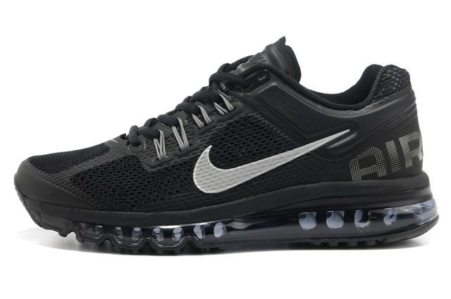 Women Air Max 2013 Black Silver M21072