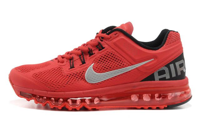 Women Air Max 2013 Red Silver M21069