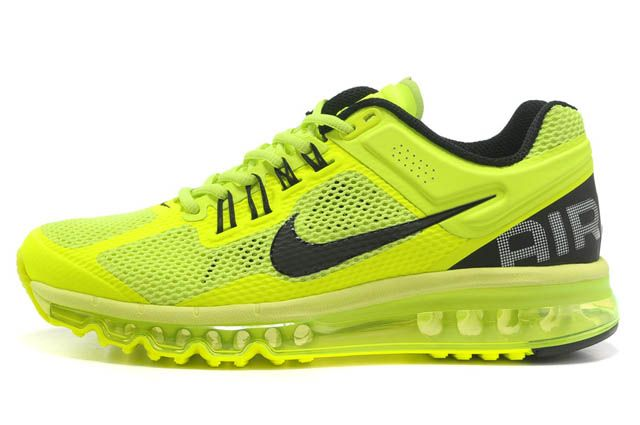 Women Air Max 2013 Black Volt Green M21080