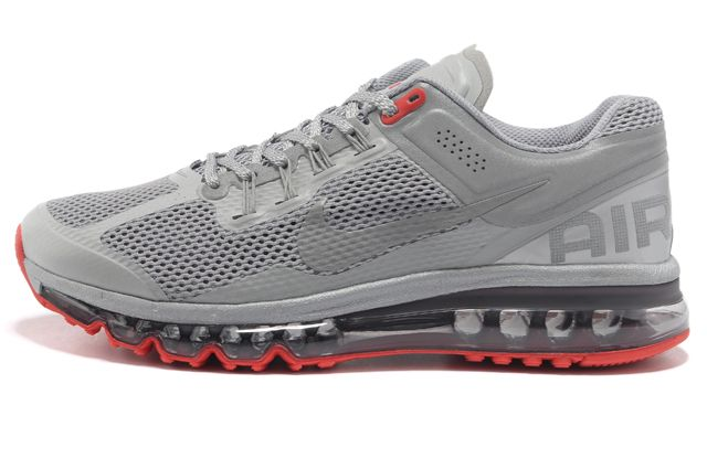 2014 Women Air Max 2013 Red Gray M21074