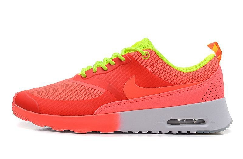 Nike Air Max Shoes Women Thea salmon red/Volt