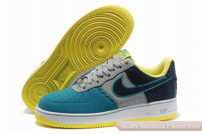 Nike Force 1 Mens Blue Gray Shoes