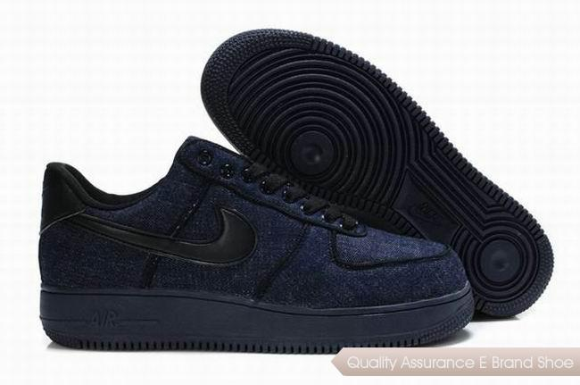 Nike Air Force 1 Mens Blue Black Shoes