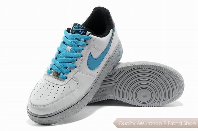 Nike Force 1 Mens White Blue Shoes