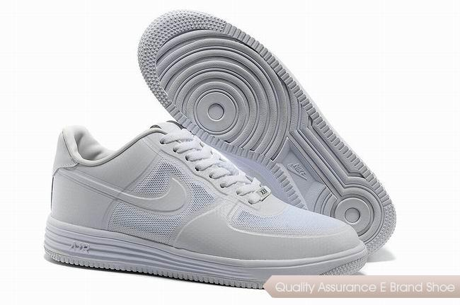 Nike Lunar Force 1 Fuse PRM QS Mens All White Shoes