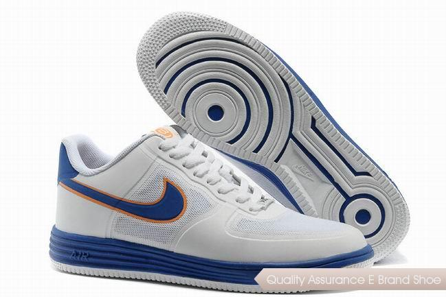 Nike Lunar Force 1 Fuse NRG Unisex White Blue Shoes