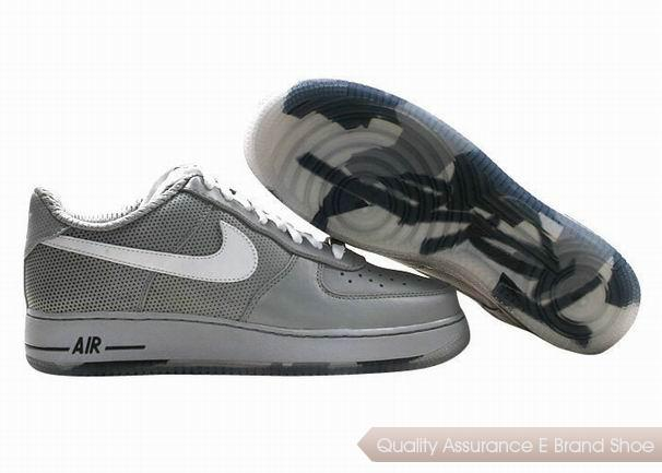 Nike Air Force 1 Unisex Gray White Shoes
