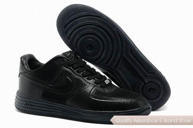 Nike Lunar Force 1 Fuse PRM QS Mens All Black Shoes