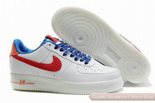 Nike Air Force 1 Unisex Blue Red Shoes