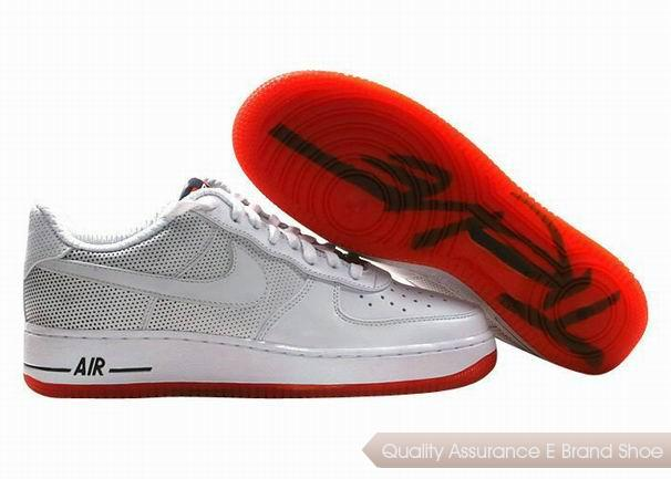 Nike Air Force 1 Unisex White Red Shoes