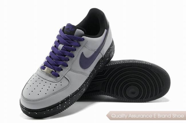 Nike Force 1 Mens White Purple Shoes