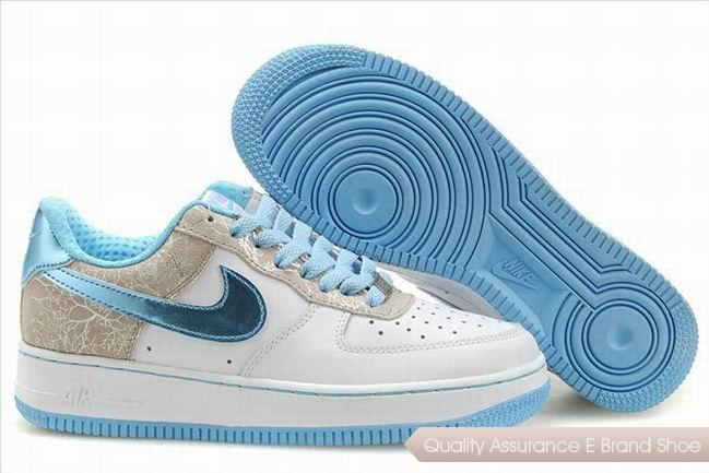 Nike Air Force 1 Womens Blue Gray Shoes