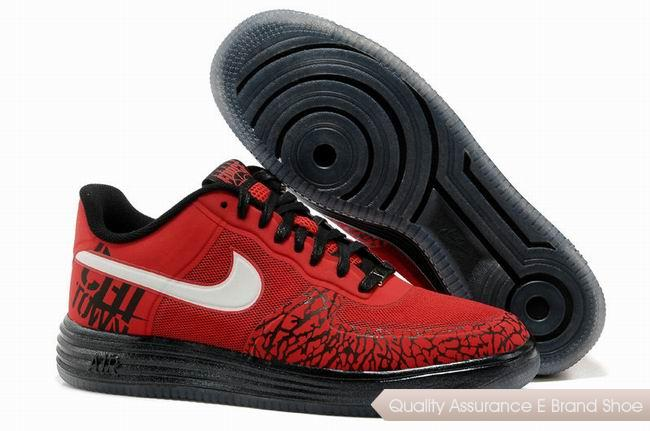 Nike Lunar Force 1 Fuse NRG Unisex Red White Shoes