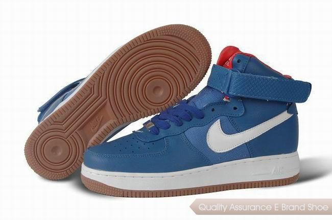 Nike Air Force 1 Mens Blue White Shoes