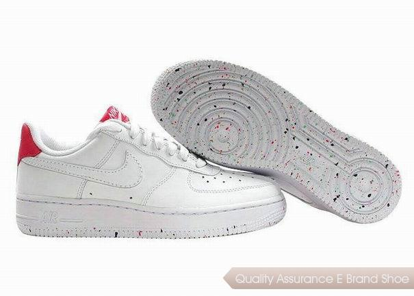 Nike Air Force 1 Womens White Pink Shoes