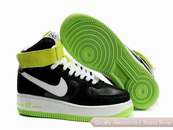 Nike Air Force 1 Womens Black Green Shoes